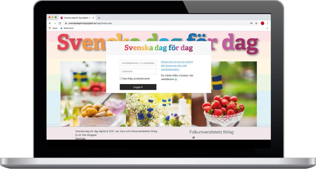 Laptop med Svenska dag för dag digital